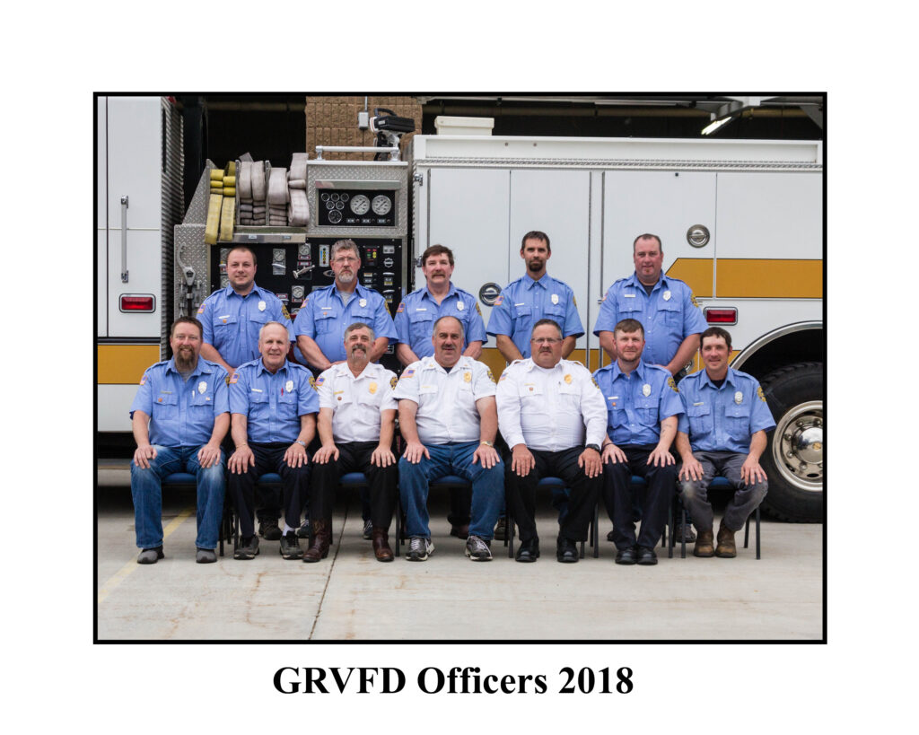 GRVFD Officers 2018